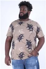 Camiseta Ful Print Plus Size Bege M