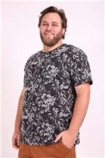Camiseta Full Print Plus Size Preto P