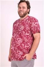 Camiseta Full Print Plus Size Vinho M
