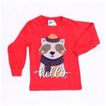 Camiseta Hello Winter Vermelho - Bicho Bagunça