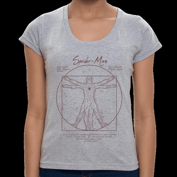 - Camiseta Homem Aranha Vitruviano - Feminina - P
