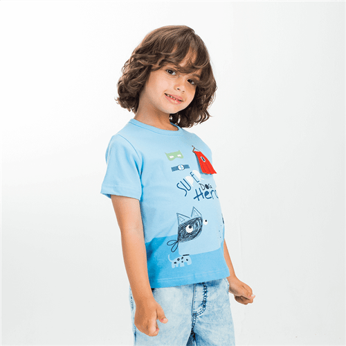 Camiseta Identidade Secreta Azul/01