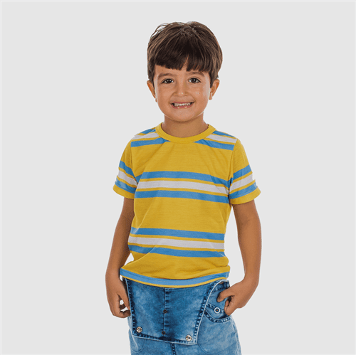 Camiseta Identidade Secreta Azul e Amarelo/01
