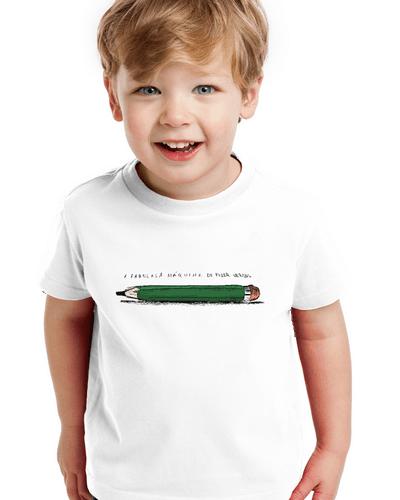 Camiseta Infantil a Fabulosa Máquina de Fazer Versos