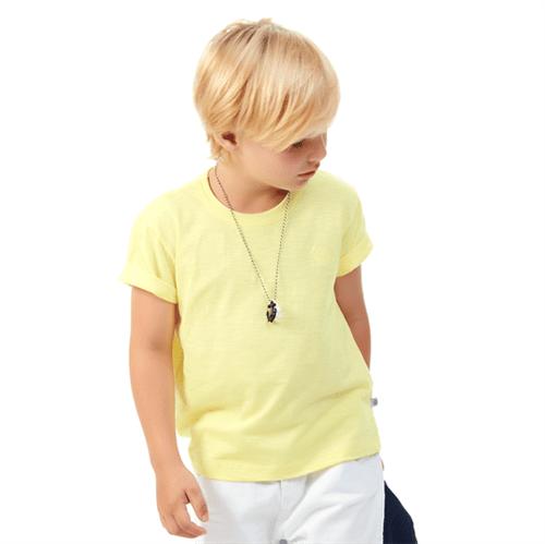 Camiseta Infantil Abrange Básico Amarelo 04