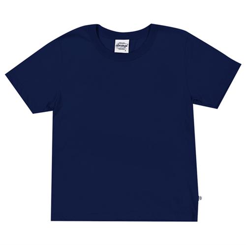 Camiseta Juvenil Abrange Básico Azul Marinho 12