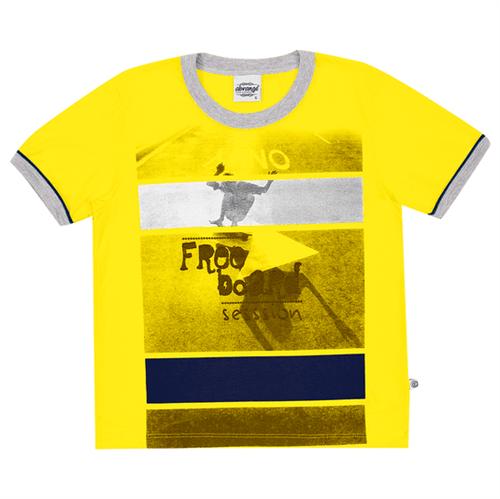 Camiseta Infantil Abrange Free Board Amarelo 04