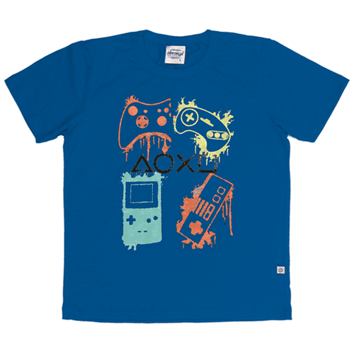 Camiseta Infantil Abrange Video Game Azul 06