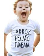 Camiseta Infantil Arroz, Feijão & Cinema