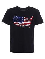 Camiseta Infantil Calvin Klein Jeans Bandeira Industrial Preto - 2