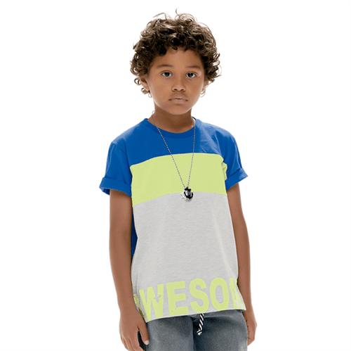 Camiseta Infantil Cata-Vento Awesome Azul 04