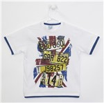 Camiseta Infantil Masculina Manga Curta Branca-4