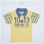 Camiseta Infantil Masculina Manga Curta Gola Polo Amarela-8