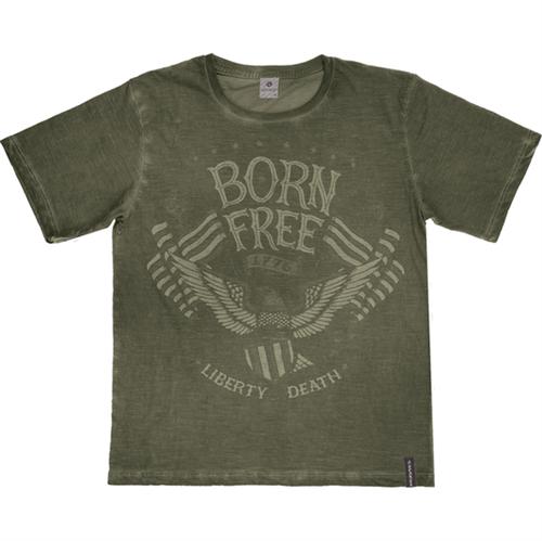 Camiseta Juvenil Abrange Born Free Verde 12