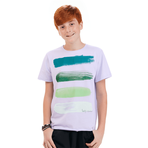 Camiseta Juvenil Abrange Way Brush Lilás 12
