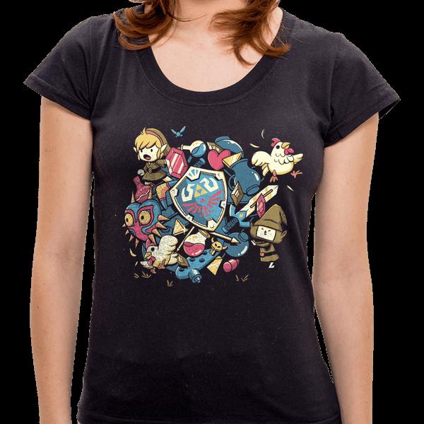 Camiseta Let's Roll Link - Feminina PR - Camiseta Let' Roll Link - Feminina - P