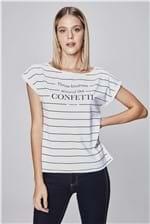 Camiseta Listrada Feminina