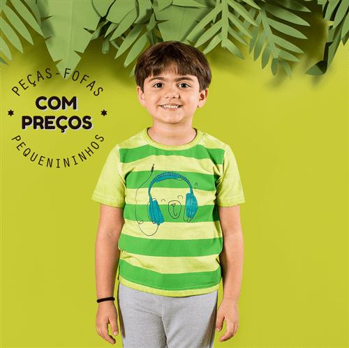 Camiseta M/c Avulso Verde/2 e 3