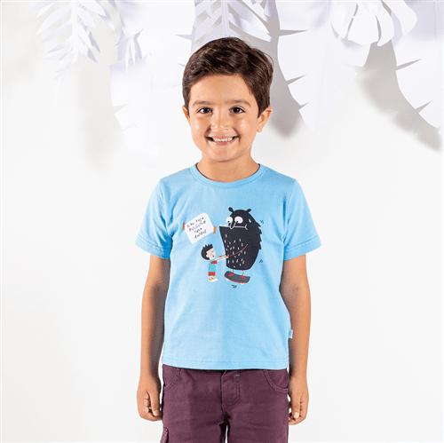 Camiseta M/c Brincadeiras do Bem Azul/1 e 2