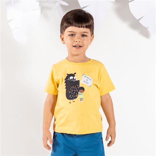 Camiseta M/c Brincadeiras do Bem Camisetam/c Brincadeiras do Bem Mostarda/2 e 3