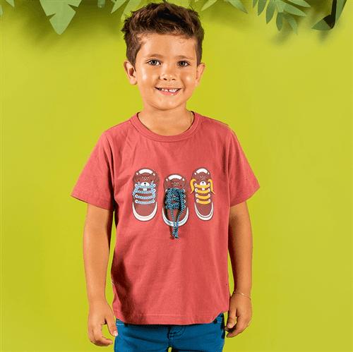 Camiseta M/c Castorzinho Xadrez Terra/1 e 2