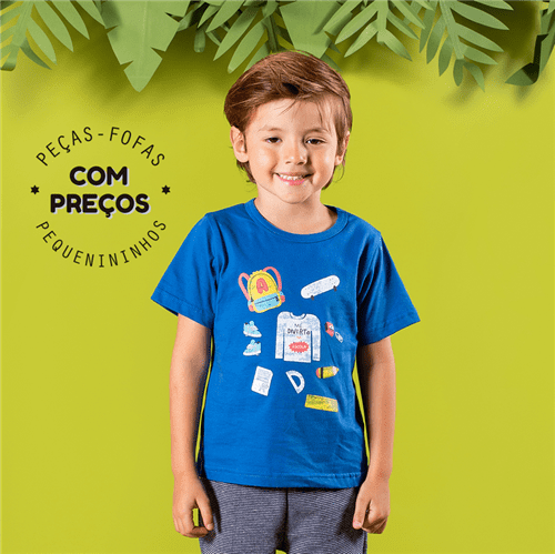Camiseta M/c Estudar e Legal Royal/4 e 6