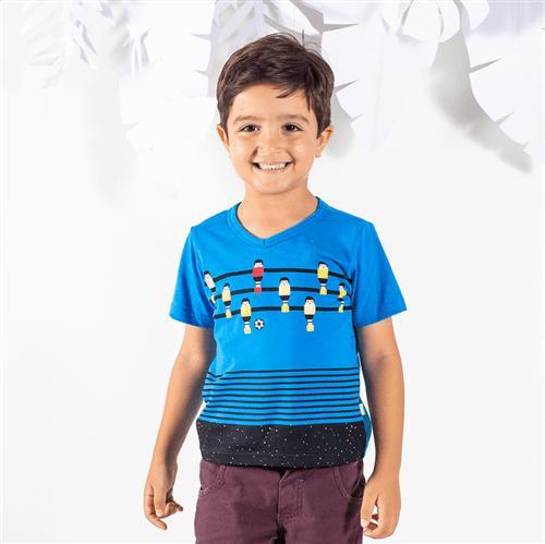 Camiseta M/c Peças para Brincar Camiseta M/c Pecas para Brincar Azul Imperial/2 e