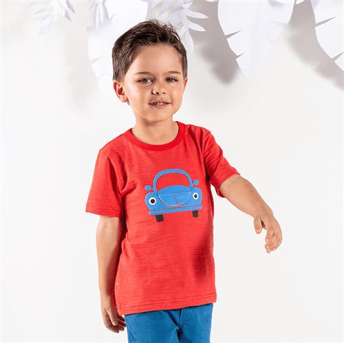 Camiseta M/c Peças para Brincar Camiseta M/c Pecas para Brincar Vermelho/4 e 6