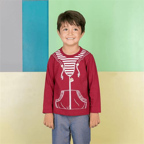Camiseta M/l Avulso Beringela/01