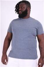 Camiseta Malha Diferenciada Plus Size Azul M