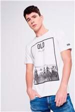 Camiseta Malha Mescla Masculina
