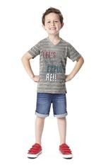 Camiseta Malha Rajada Mescla Menino Malwee Kids Cinza Claro - 2