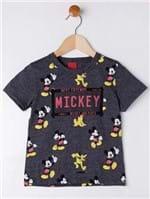Camiseta Manga Curta Disney Infantil para Menino - Chumbo