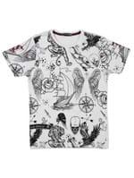 Camiseta Manga Curta Local Juvenil para Menino - Bege