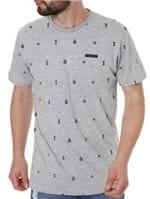 Camiseta Manga Curta Masculina Cinza Claro