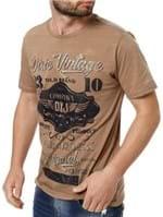 Camiseta Manga Curta Masculina Dixie Marrom