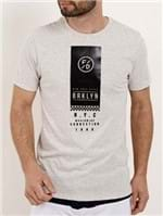 Camiseta Manga Curta Masculina Fido Dido Cinza