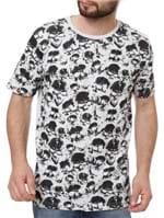 Camiseta Manga Curta Masculina Local Cinza Claro
