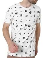 Camiseta Manga Curta Masculina Vels Off White