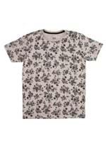 Camiseta Manga Curta Vels Juvenil para Menino - Marrom