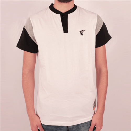 Camiseta Manga Longa Famous Endzone Branco P