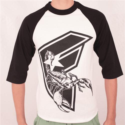 Camiseta Manga Longa Famous Scorp Branco/preto P