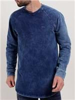 Camiseta Moletinho Masculina Rock&Soda Azul Marinho