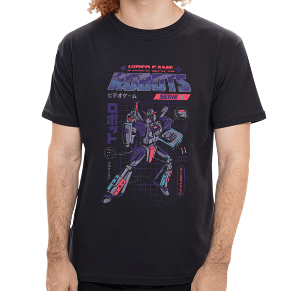 Camiseta Nintendo Robots - Masculina - P