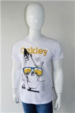 Camiseta Oakley Caveira Branco Tam. M