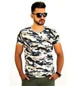 Camiseta Pau a Pique Camuflada Cinza CINZA - M