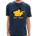 - Camiseta Pikachu Not Today - Masculina - P