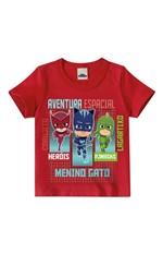 Camiseta PJ Masks® Menino Malwee Kids Vermelho - 1
