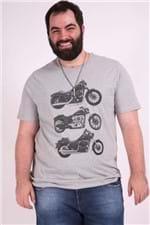 Camiseta Praia Plus Size Cinza G