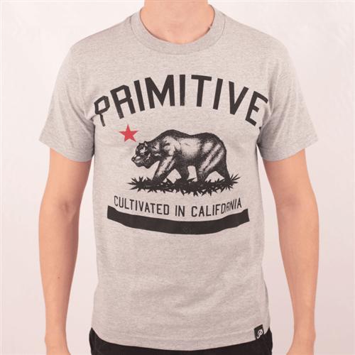 Camiseta Primitive Cultivated In California Cinza P
